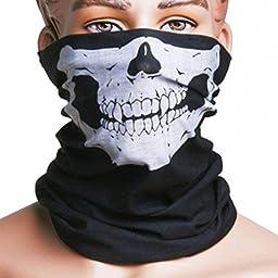 SL Skull Face Multi Use Face Mask Scarf Head Wrap