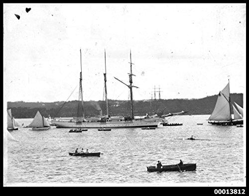poster-steam-yacht-sunbeam-sydney-harbour-australia-maritime-australian-national
