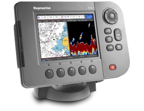 Raymarine a57d 5 7 inch waterproof marine gps navigator for Best rated fish finder