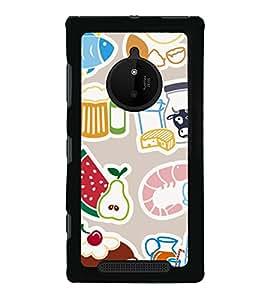 Food Graffiti 2D Hard Polycarbonate Designer Back Case Cover for Nokia Lumia 830 :: Nokia Lumia 830 RM-984