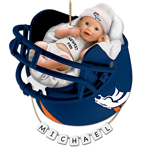 Denver Broncos Personalized Baby's First Christmas Ornament by The Bradford Exchange