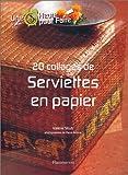 echange, troc Valérie Strub - 20 collages de serviettes en papier
