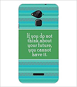 PrintDhaba Quote D-4171 Back Case Cover for COOLPAD NOTE 3 LITE (Multi-Coloured)