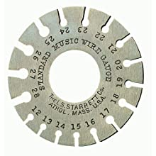 "Starrett 280 Piano Tuners' Gage, Hardened, Satin Finish, Numbers 12-28, 0.029 - 0.071"" Diameter Range"