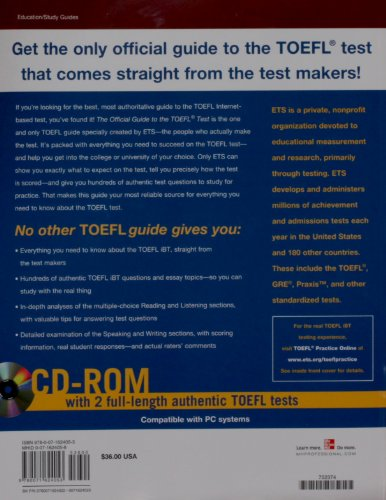 The Official Guide to the TOEFL iBT with CD-ROM, Third Edition (Educational Testing Service)