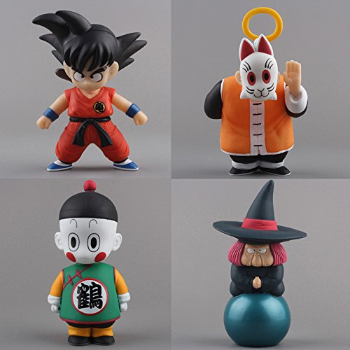 4pcs/lot Anime Cartoon Dragon Ball Z Sun Goku Master Roshi PVC Action Figure Collectible Model Toy