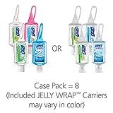 PURELL 3909-09-ECSC Advanced Hand Sanitizer Portable Bottles - 1 oz. Variety Pack Travel Sized Jelly Wrap Bottles (Case of 8)