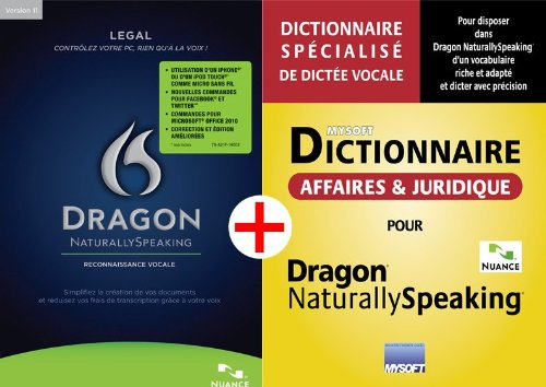 DRAGON NATURALLYSPEAKING LEGAL V11.5 + DICTIONNAIRE AFFAIRES ET JURIDIQUE MYSOFT