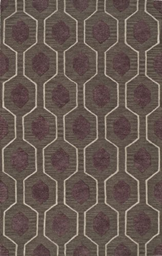 Dalyn Tones Area Rug Tn1Cc Charcoal Diamonds Lines 9' X 13' Rectangle front-1046102