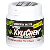 Naturally Better Licorice Xylichew, Sugar Free Chewing Gum, 100-Piece Canisters (Pack of 2) ~ Wipex