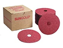 Sungold Abrasives 16902 4-1/2-Inch x 7/8-Inch Center Hole 36 Grit Aluminum Oxide Fiber Disc, 25-Pack