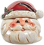 Jolly Santa Claus Head 8 inch Ceramic Stoneware Christmas Cookie Jar