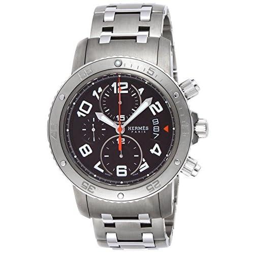 [エルメス]HERMES 腕時計 クリッパークロノ メカニック ダイバー ブラウン文字盤 CP2.941.435.4963 メンズ 【並行輸入品】