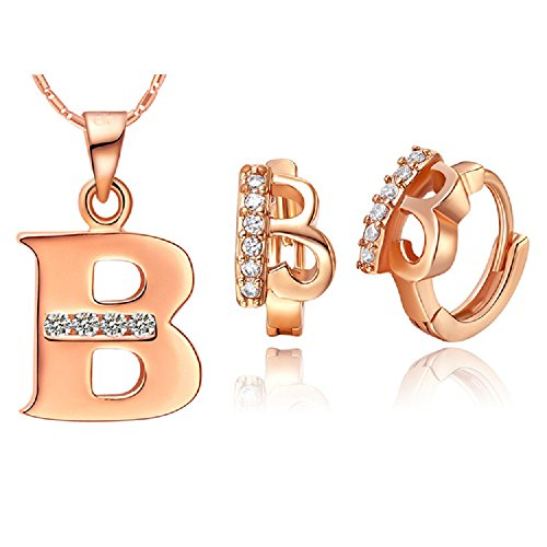 bling-fashion-18k-rose-gold-plated-26-letters-letter-b-necklace-earrings