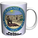 Parks and Recreation Pawnee City Seal Workplace Comedy TV Television Show Ceramic Gift Coffee (Tea, Cocoa) 11 Oz. Mug