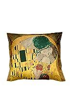 Tele d'autore by MANIFATTURE COTONIERE Cojín Klimt Il Bacio (Oro/Multicolor)