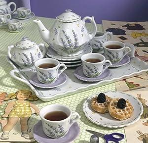 Andrea by Sadek Lavender Porcelain Child's Tea Set for Four by Sadek