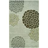 """Safavieh Soho Collection SOH211A Handmade Light Grey New Zealand Wool Area Rug, 3 feet 6 inches by 5 feet 6 inches (3'6"""" x 5'6"""")"""