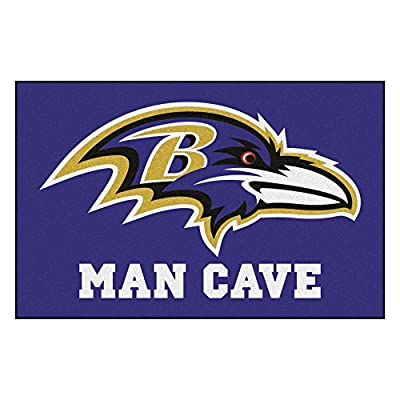 FANMATS 14269 NFL Baltimore Ravens Nylon Universal Man Cave Starter Rug