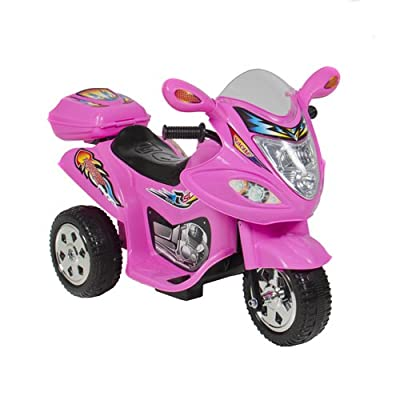 Best Choice Products® Kids Ride On Motorcycle 6V Toy Battery Powered Electric 3 Wheel Power Bicycle Pink