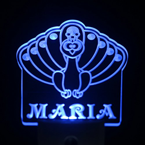 Ws1011-Tm Peacock Personalized Night Light Baby Kids Name Day/ Night Sensor Led Sign