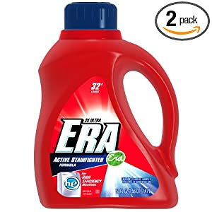 2-pack 50oz Era 2x Ultra HE Active Stainfighter Formula Liquid Detergent $7.04