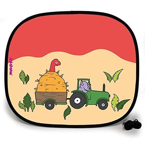 123t ANI-MATES DINO FARMYARD PLAIN Baby/Child Vehicle Sunshade x 1