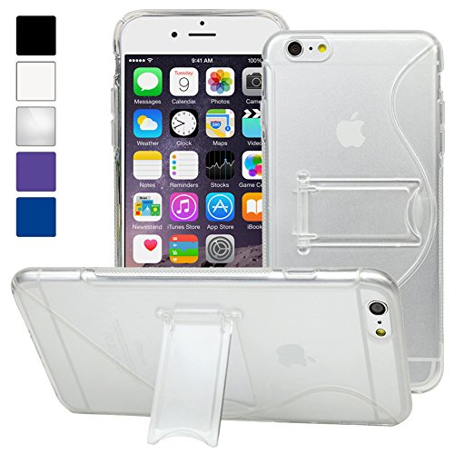 Evecase Iphone 6 Plus Case, S-Line Slim Tpu Case Cover With Kick-Stand For Apple Iphone 6 Plus 5.5'' Screen 2014 Smartphone - Frosted Clear