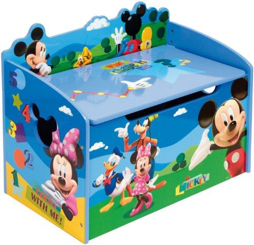 Disney mickey mouse cassapanca portagiochi in legno - Tavolo contenitore bambini ...