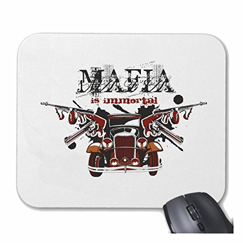 "'Tappetino per mouse (Mouse) ""Mafia Oldtimer Chicago Hot Rod US Car mucle Car V8 Route 66 USA America per il Laptop, Notebook o Internet PC.. (con Windows Linux ecc.) in bianco"