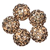Busy Bead Pack of 20 Busy Bead Pack of 10 Topaz Shamballa Clay Crystal Rhinestone Pave Round 10mm Beads