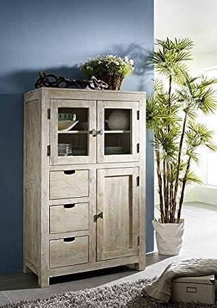 Buffet en bois massif de mobilier en bois massif d'acacia white#64 meuble nature