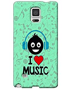 Hugo Samsung Galaxy Note 4 Back Cover Hard Case Printed Designer Multicolour