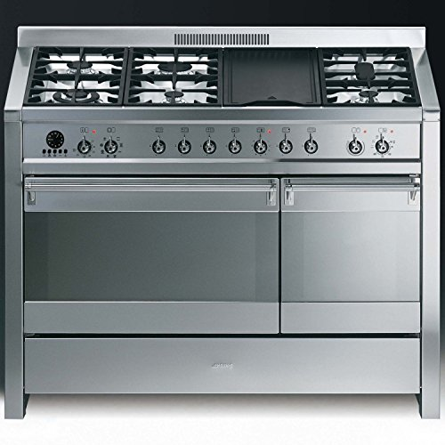 Smeg A3-7 Opera 120cm Dual Fuel Range Cooker - Stainless Steel