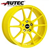 Alufelge Autec WIZARD VW Golf III Cabrio 1E, 1E..., 1H, 1H... 7.5 x 17 Atomic yellow