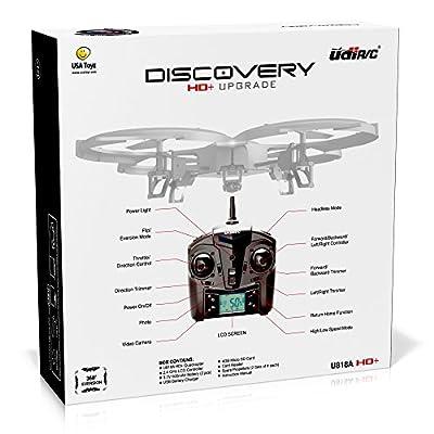 UDI U818A HD+ Drone with Camera and Headless Mode
