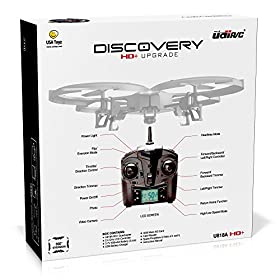 UDI 818A HD+ RC Quadcopter Drone with HD Camera, Return Home Function and Headless Mode - 2.4GHz 4 CH 6 Axis Gyro RTF - Includes BONUS BATTERY + POWER BANK (*Quadruples Flying Time*)