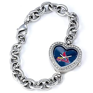 Ladies MLB St. Louis Cardinals Heart Watch by 14k co.