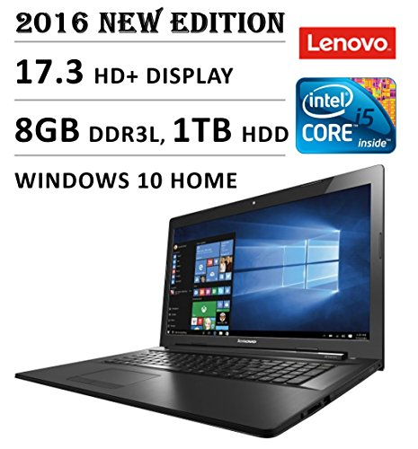2016 Newest Lenovo Flagship Premium High Performance 17.3-inch HD+ Laptop, Intel Core i5-5200U 2.2 GHz, 8GB DDR3L Memory, 1TB HDD,...