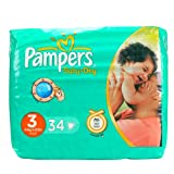 Pampers Baby-Dry Nappies Size 3 (Midi) x 34