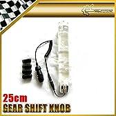 ファッション車のスタイリング25センチメートルホワイトバブルディルドギアKnobLightフィットに車のすべての種類のシフト