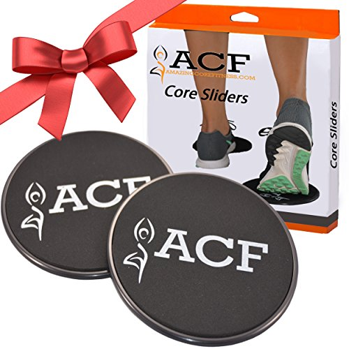2 Core Sliders Gliding Discs for Exercise on Amazon - Dual Sided for Use on Carpet or Hardwood Floors - Very Effective Core Trainer and Abdominal Exercise Equipment