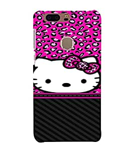 Cuty Cat 3D Hard Polycarbonate Designer Back Case Cover for Huawei Honor 8