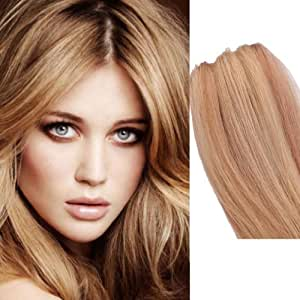 7Pcs Clip Hair Remy 100% Real Human Straight Natural Hair Extensions ...