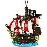Carribbean Pirate Ship Hanging Resin Christmas Ornament
