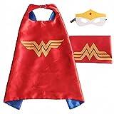 (Wonder Woman)ROXX Superhero Kids Girl Boy Cape and Mask Costume for Child