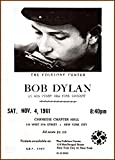 BOB DYLAN LIVE AT CARNEGIE CHAPTER HALL 1961 250gsm ART CARD Gloss A3 Reproduction Poster