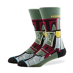 Stance Men\'s Boba Fett Crew Socks, Green, Large
