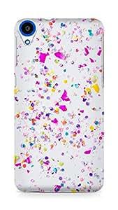 Amez designer printed 3d premium high quality back case cover forHTC Desire 820 (iphone confetti)