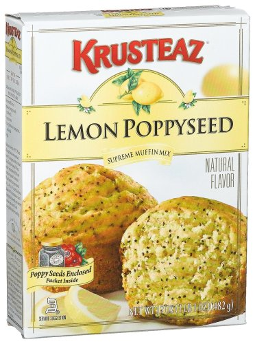 Krusteaz Lemon Poppyseed Supreme Muffin Mix, 17-Ounce Boxes (Pack of 12)